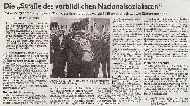 """Horst M. Auer in """"Nürnberger Nachrichten"""" vom 24. November 2014"""