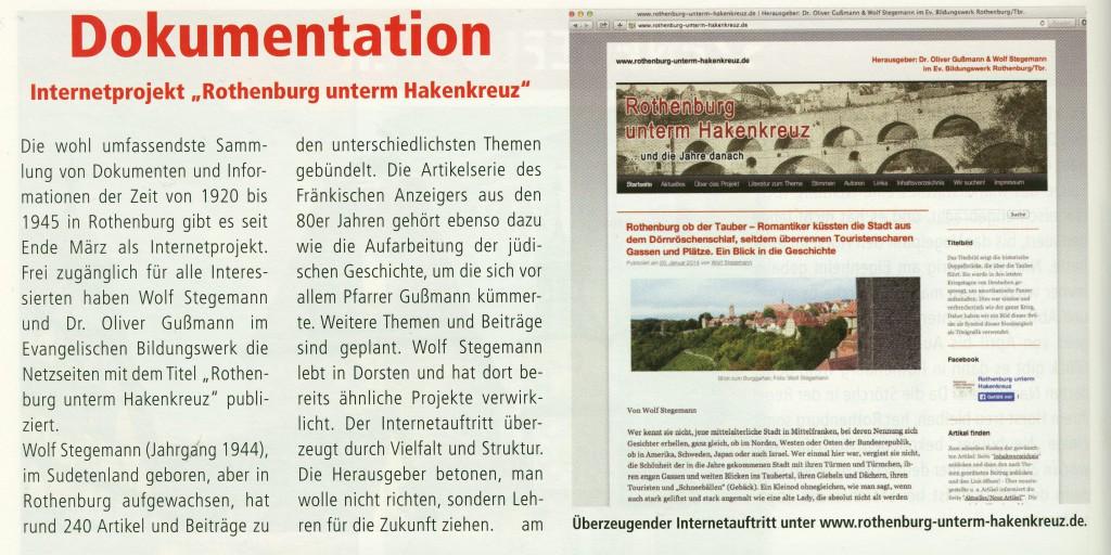 Rotour, Stadtmagazin für Rothenburg und Umgebung, Mai 2014