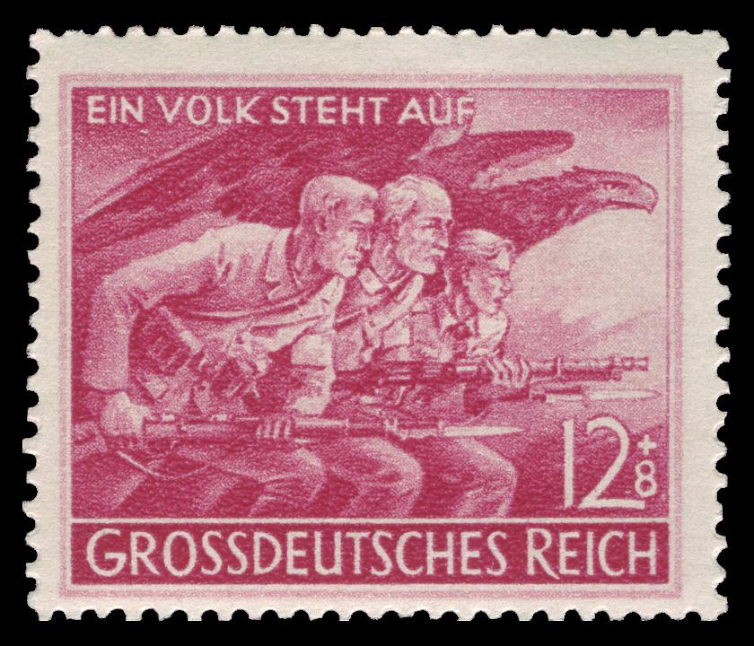 Briefmarke dient der Volkssturm-Propaganda
