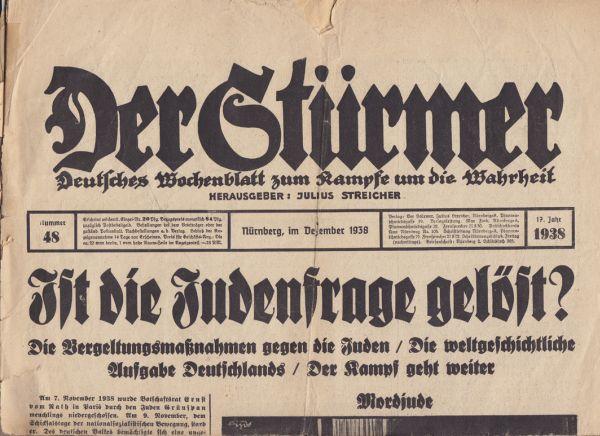 """""""Stürmer""""-Ausgabe von 1939"""