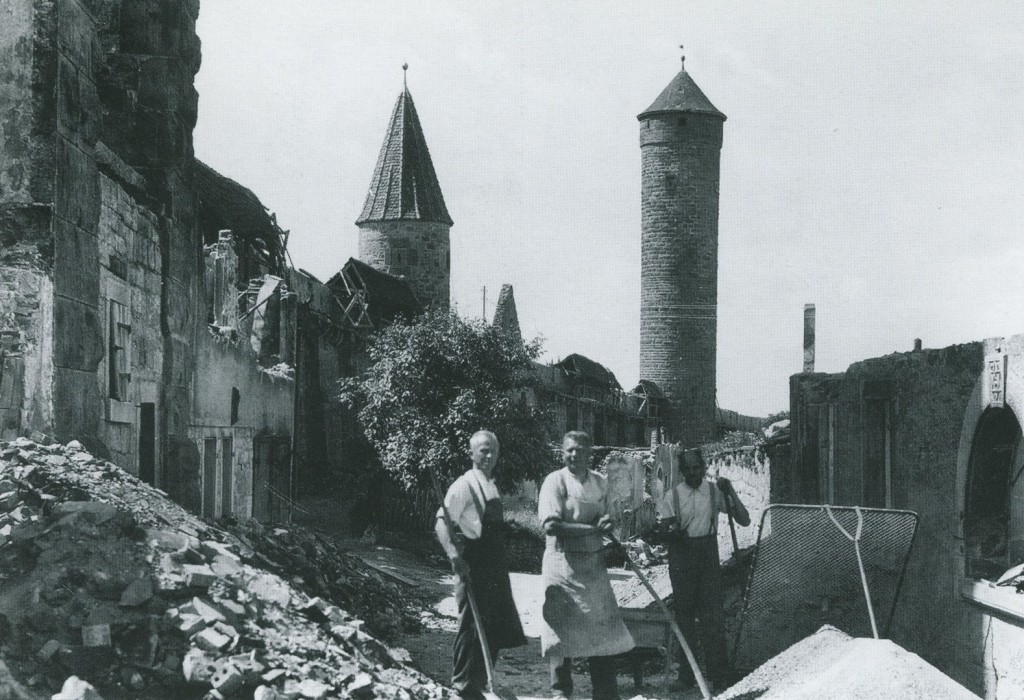 Wiederaufbau in der Röderschütt - Georg Tripps, Fritz Klenk, Hans Ehrmann