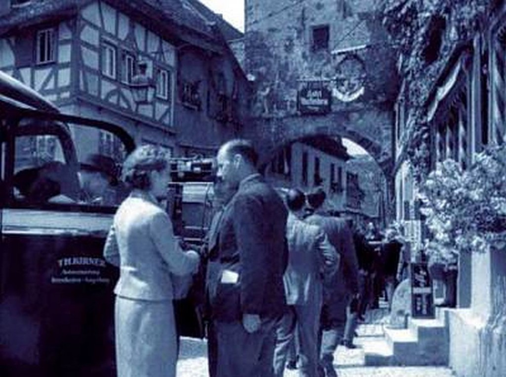 US-amerikanische Touristengruppe 1934 in Rothenburg