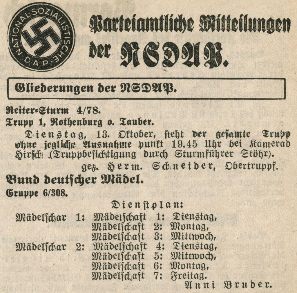 FA war das Nachrichtenblatt der NSDAP