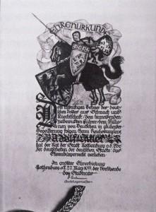 Ehrenbürgerurkunde für Adolf Hitler