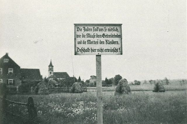 Antisemitisches Schild in Geslau (1936)