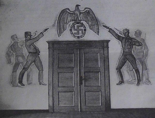 Unbehauen-Wandbild im NSDAP-Kreishaus