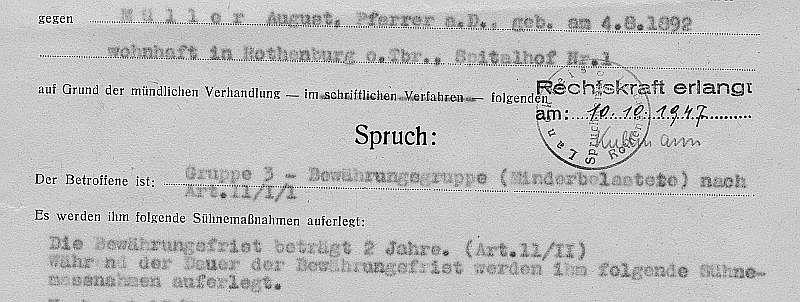 Pfarrer Müllers Spruch (Ausriss)