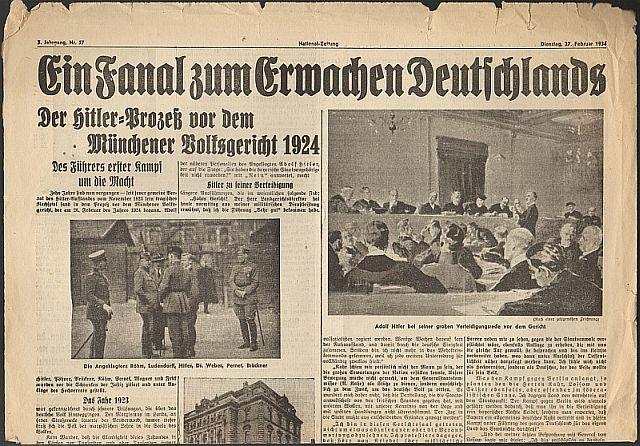 Hochverratsprozess gegen Hitler und andere 1924