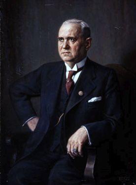 Ministerpräsident Ludwig Siebert mit goldenem Parteiabzeichen, Gemälde