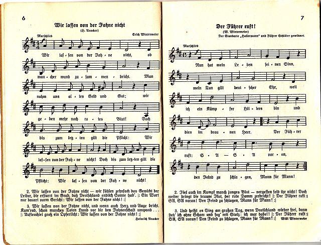 """Seite aus dem Liederbuch """"Singe mein Volk"""""""