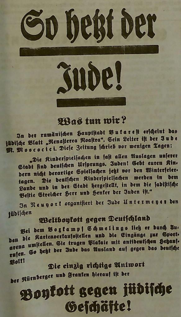Antisemitische Anzeige vom 20. Dez. 1937