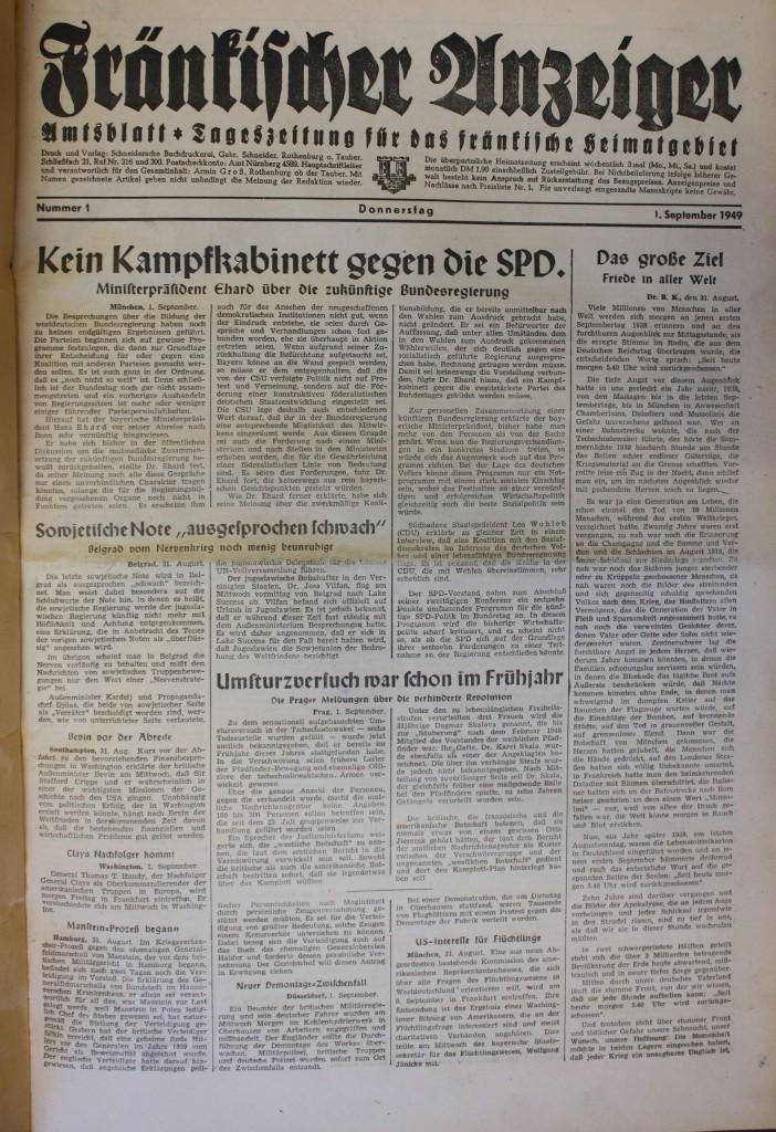 Erste Ausgabe 1949