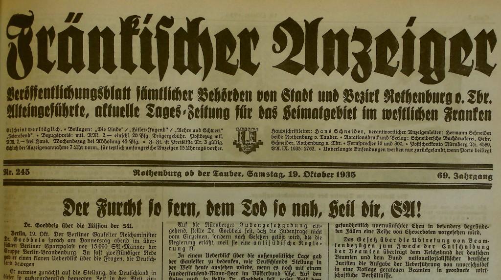 Zeitungskopf 1935