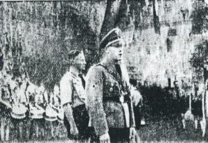 HJ-Zeltlager 1939 vor dem Galgentor mit Jungbannführewr Wilhelm Christ
