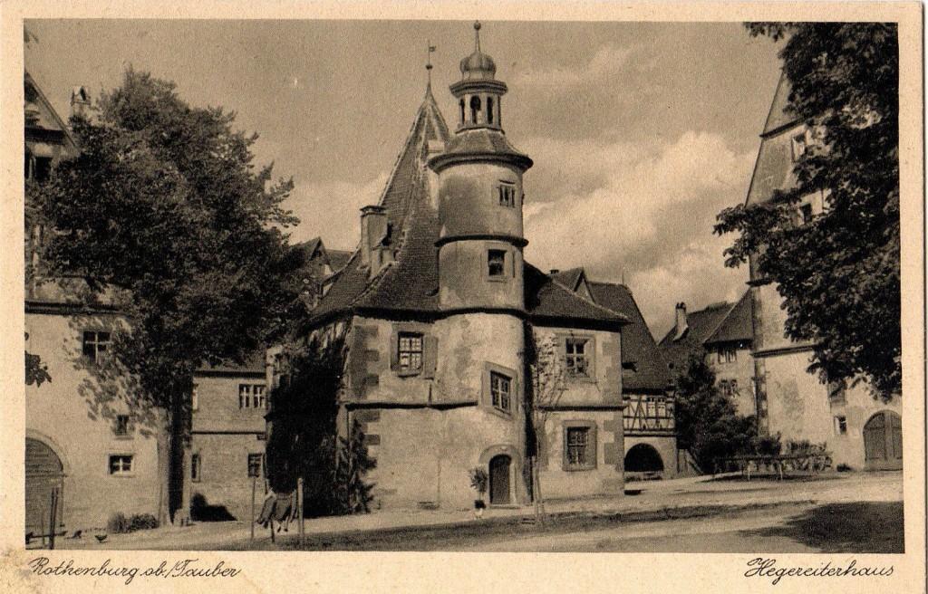 Das Hegereiterhaus im Spitalhof wurde 1939 ein Erholungsheim für Künstler