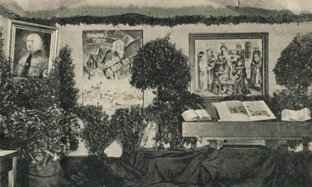 Ausstellungsfoto; entnommen dem Fränkischen Anzeiger
