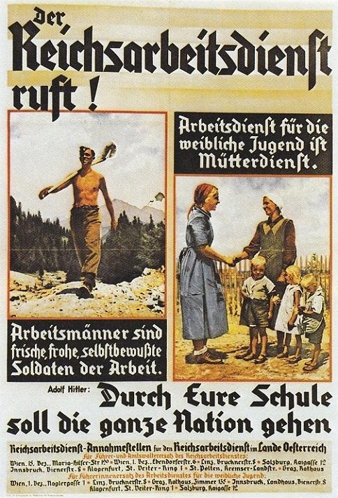 """NS-Plakat """"Der Reichsarbeitsdienst ruft"""""""