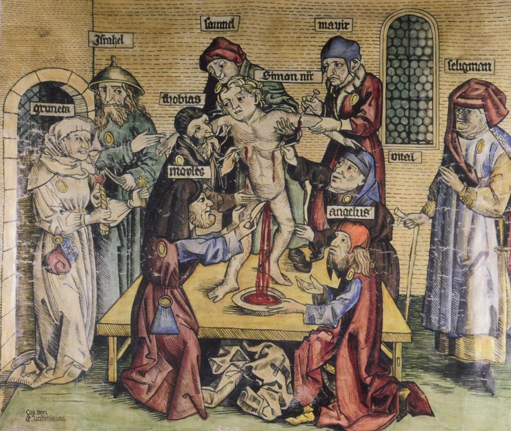 Unbehauens Kopie des antijüdischen Ritualmord-Bildes in er antisemitischen Ausstellung