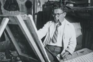 Ernst Unbehauen 1947 im Internierungslager