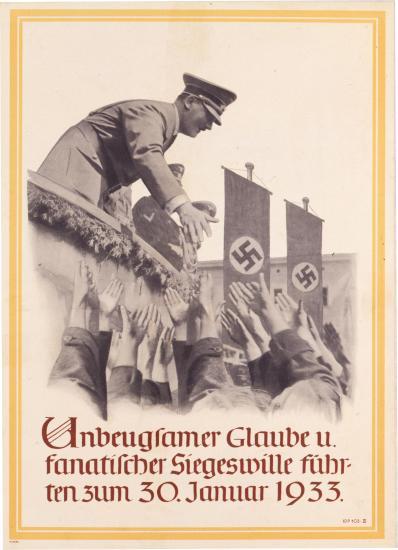 NS-Plakat zur Erinnerung an die Machtergreifung 1933