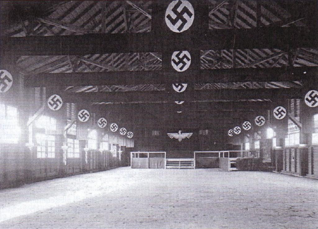 Geschmückte Sporthalle am Schlachthof