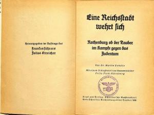 Juden-Buch Reichsstadt wehrt sich (1)