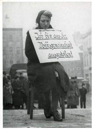 Demütigung und Erniedrigung war bei der NSDAP Programm (Foto nicht Rothenburg)