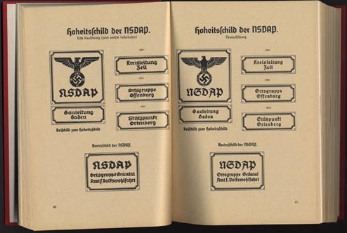 Seite aus dem NSDAP-Organisationsbuch