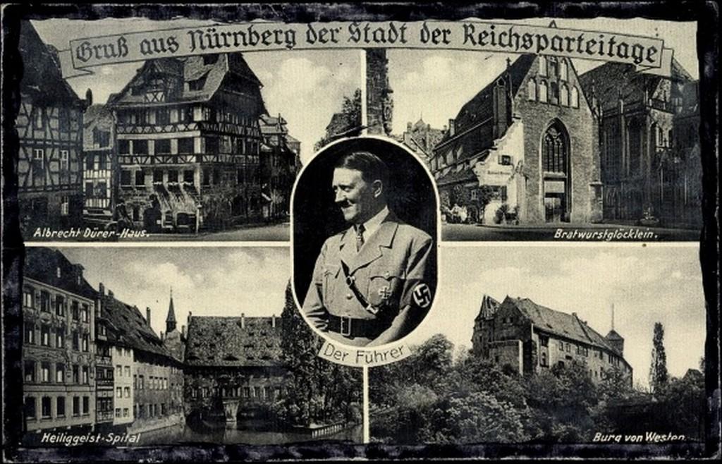 Postkarte aus Nürnberg 1935