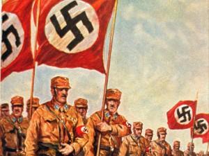 POstkarte der SA des NS-Künstlers Albert Reich
