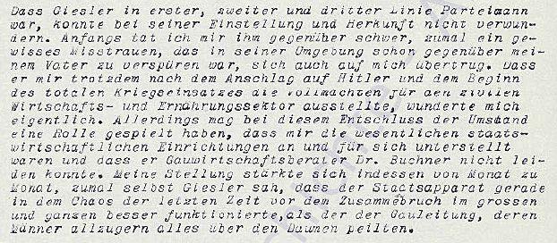 Auszug aus dem Manuskript Friedrich Sieberts