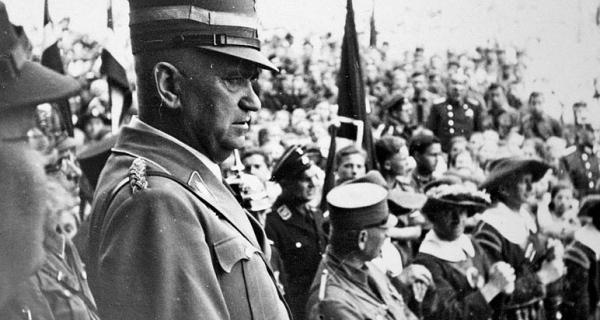 NS-Ministerpräsident Ludwig Siebert in Rothenburg ob der Tauber