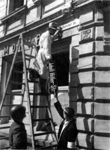 Entnazifizierung einer Adolf-Hitler-Straße (nicht Rothenburg)