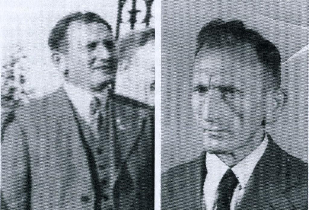 Der Vater Karl Probst vor 1945 (li.) und danach