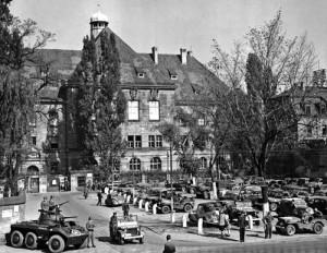 Im Justizpalast Nürnberg begannen 1946 die Kriegsverbrecherprozesse