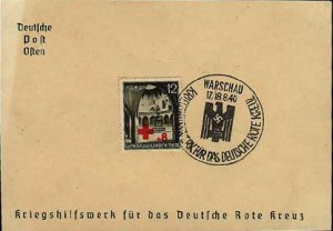 Spenden über Briefmarken für das DRK