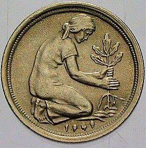 50 Pfennig deutsche Eiche