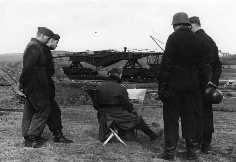Kriegsmaler der Propagandakompanie in Frankreich; Foto: Bundesarchiv