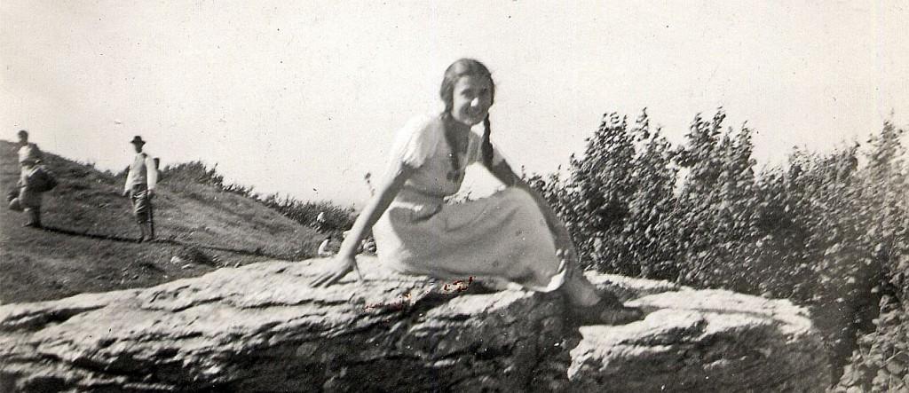 Grete Fürst, spätere Schneider / Babel, 1933 auf dem Frankentag am Hesselberg