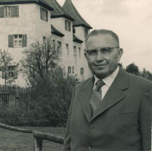 Ferdinand Lieret als Pensionär nach 1945