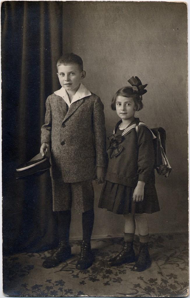 Grete Fürst und ihr Bruder Georg Johann Fürst 1924