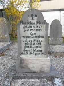 Grab    auf dem Rothnburger jüdischen Friedhof