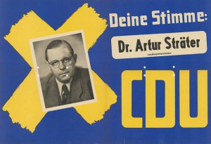 Wahlplakat Artur Sträters