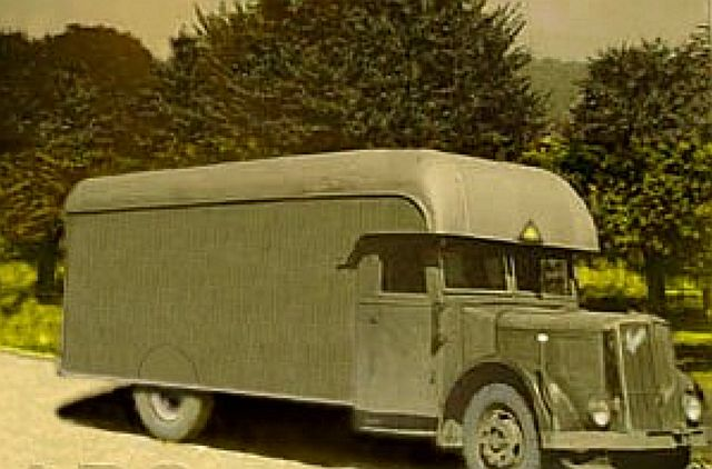 Gaswagen wurden anfangs eingesetzt, um behinderte Menschen zu töten