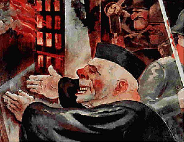 J0stiz. die Stützen der Gesellschaft; Gemälde von George Grosz