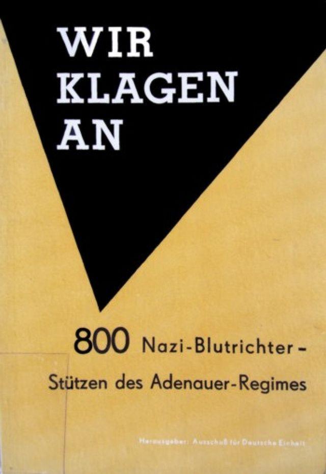 DDR-Schrift üner Nazu-Richter in der BRD