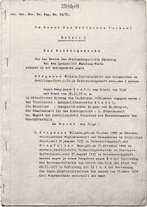 Urteil des Sondergerichts im Fall Stegmann