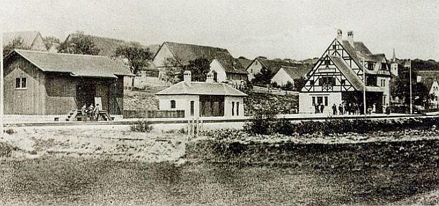 Tatort: Der damalige Kopfbahnhof Schillingsfürst.