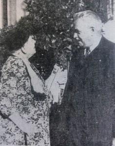 F. Hörner mit der Anna McCloy, der Mutter des US-Hochkommissars