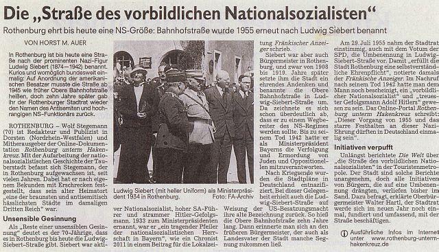 """Nürnberger Nachrichten"" vom November 2014"